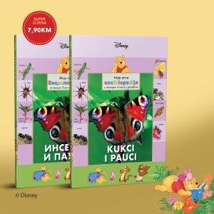 """Kolekcija knjiga Moja prva enciklopedija s Winniejem Poohom i prijateljima – peta knjiga """"Kukci i pauci"""""""