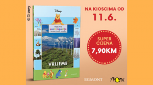 """Kolekcija knjiga Moja prva enciklopedija s Winniejem Poohom i prijateljima – osamnaesta knjiga """"Vrijeme"""""""