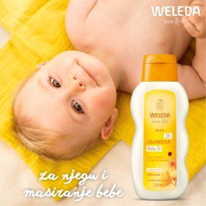 Za dnevnu njegu bebine kože- Weleda nevenovo ulje