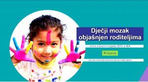 Online edukacija dječji mozak objašnjen roditeljima + istoimena knjiga + dječja ulaznica za park znanosti