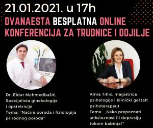Dvanaesta online konferencija za trudnice i mame održana je 21.01.2021. godine.