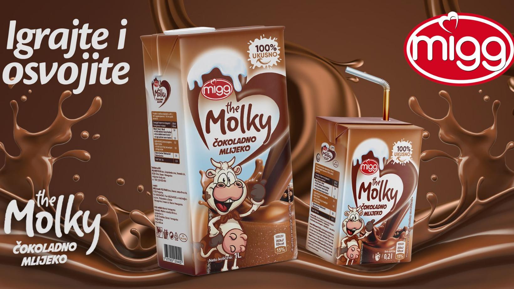 Novo, Molky čokoladno mlijeko za (brižne) sladokusce