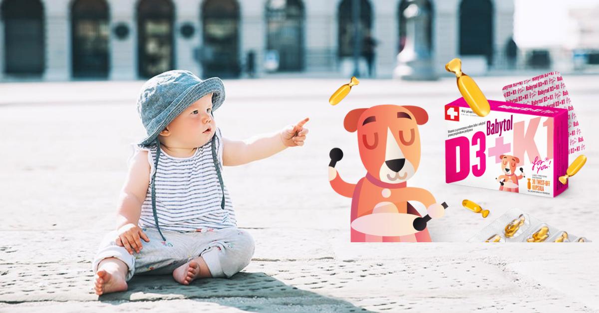 Babytol D3 + K1 – vitamin koagulacije važan za bebe