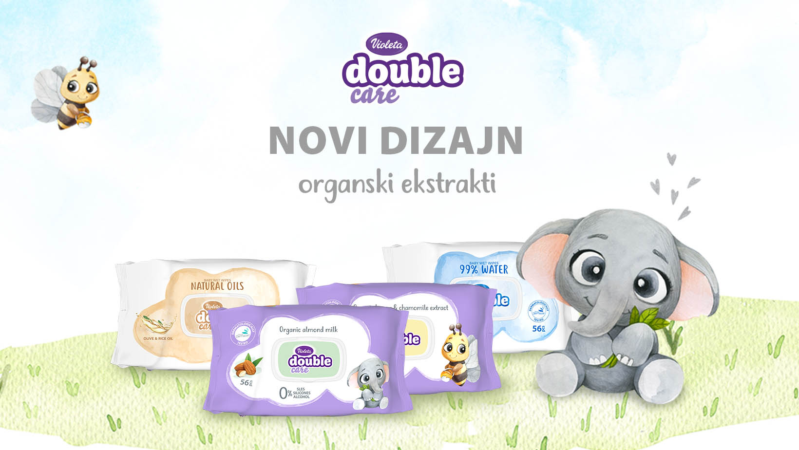 Violeta Double Care baby vlažne maramice